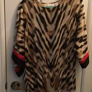Chico's dressy animal print  blouse